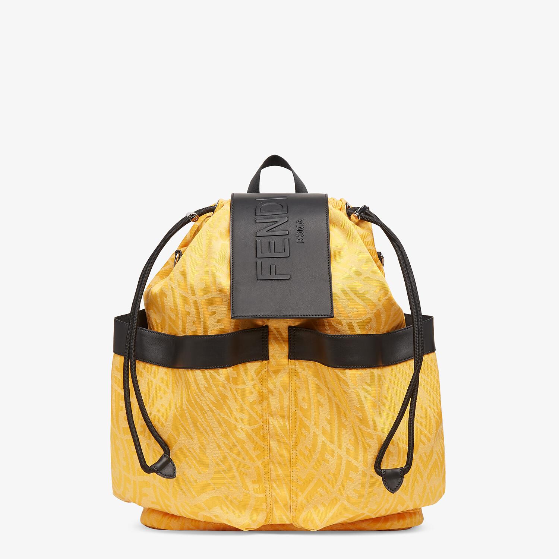 FENDI DRAWSTRING BACKPACK - Yellow FF Vertigo fabric backpack - view 1 detail