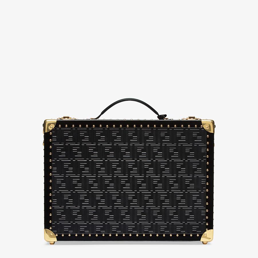 FENDI RIGID SUITCASE MEDIUM - Black leather suitcase - view 3 detail