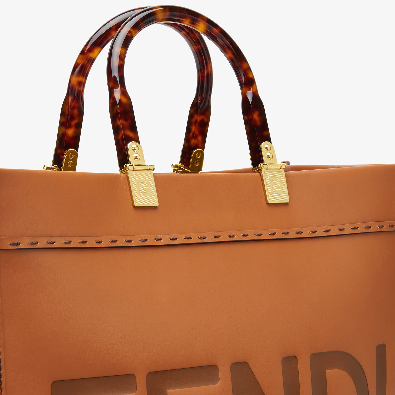FENDI FENDI SUNSHINE MEDIUM - Brown leather shopper - view 6 detail
