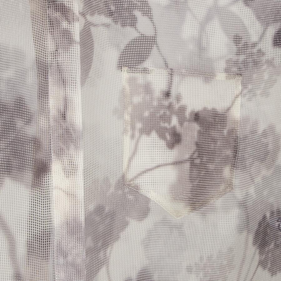FENDI SHIRT - Gray organza shirt - view 3 detail