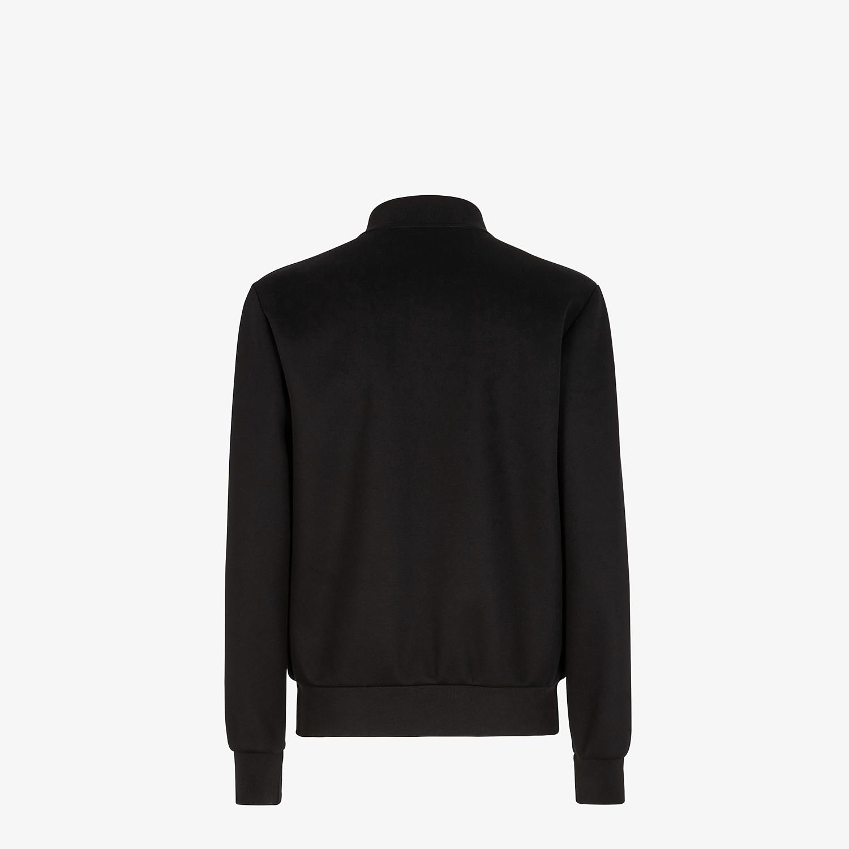 FENDI BOMBER JACKET - Black neoprene jacket - view 2 detail