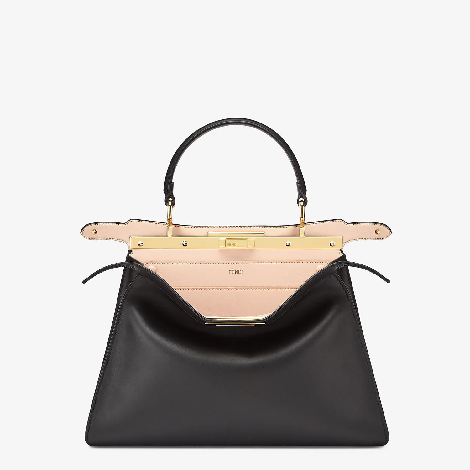 FENDI PEEKABOO ISEEU MEDIUM - Black leather bag - view 2 detail