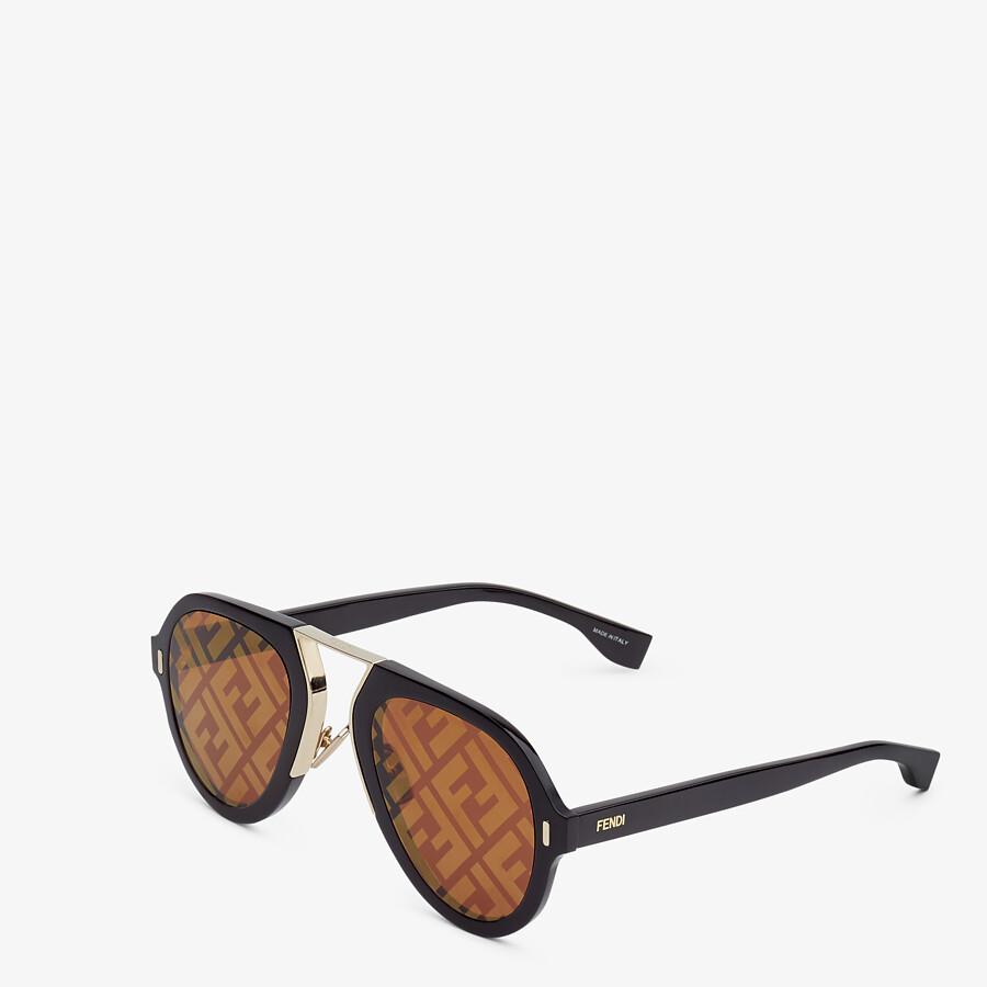 FENDI FENDI FORCE - Black sunglasses - view 2 detail