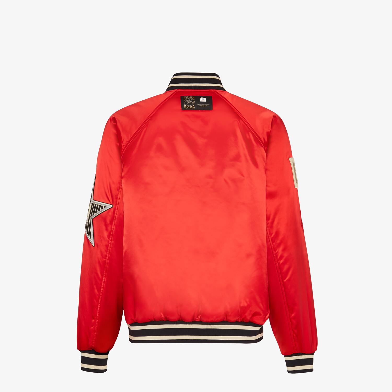 FENDI BOMBER - Red satin jacket - view 2 detail