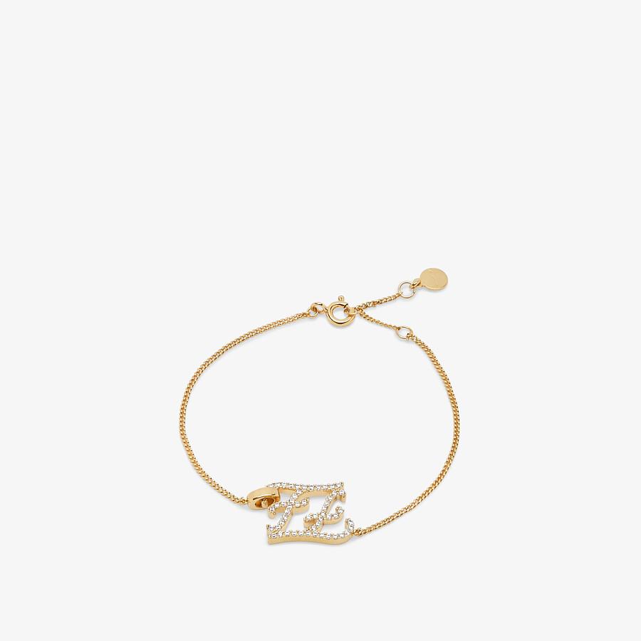 FENDI KARLIGRAPHY BRACELET - Gold-colored bracelet - view 1 detail