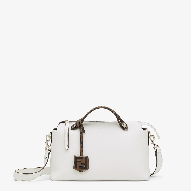 FENDI BY THE WAY MEDIUM - White leather Boston bag - view 1 detail