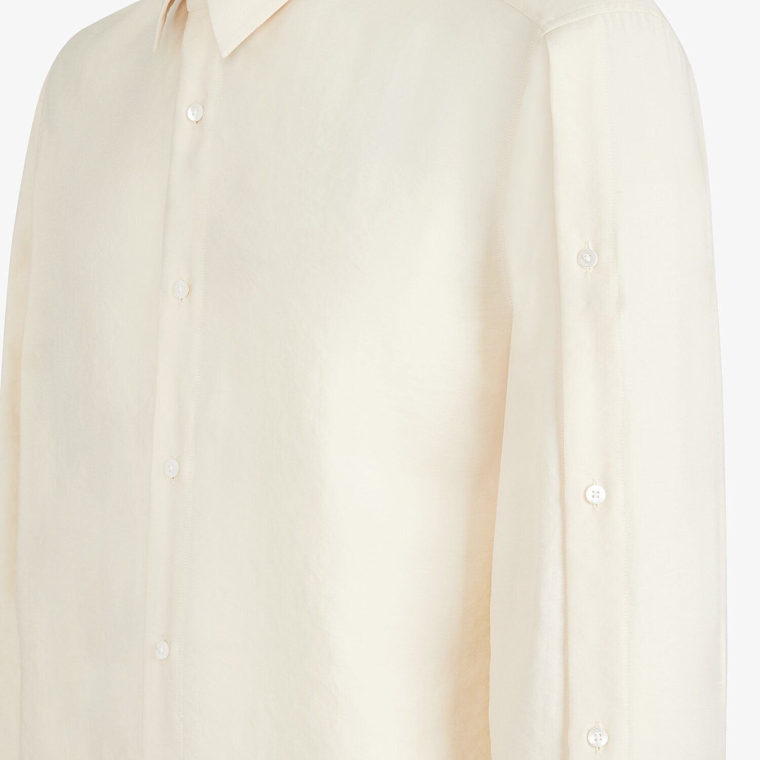 FENDI SHIRT - White tech fabric shirt - view 3 detail