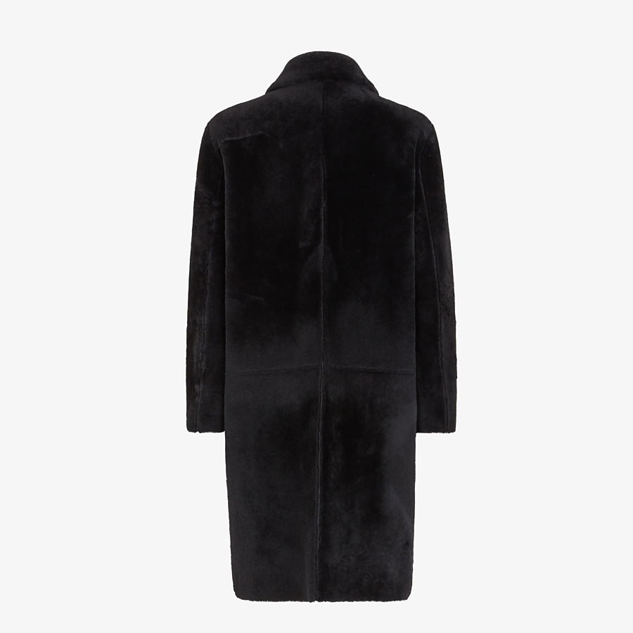 FENDI COAT - Black shearling coat - view 2 detail