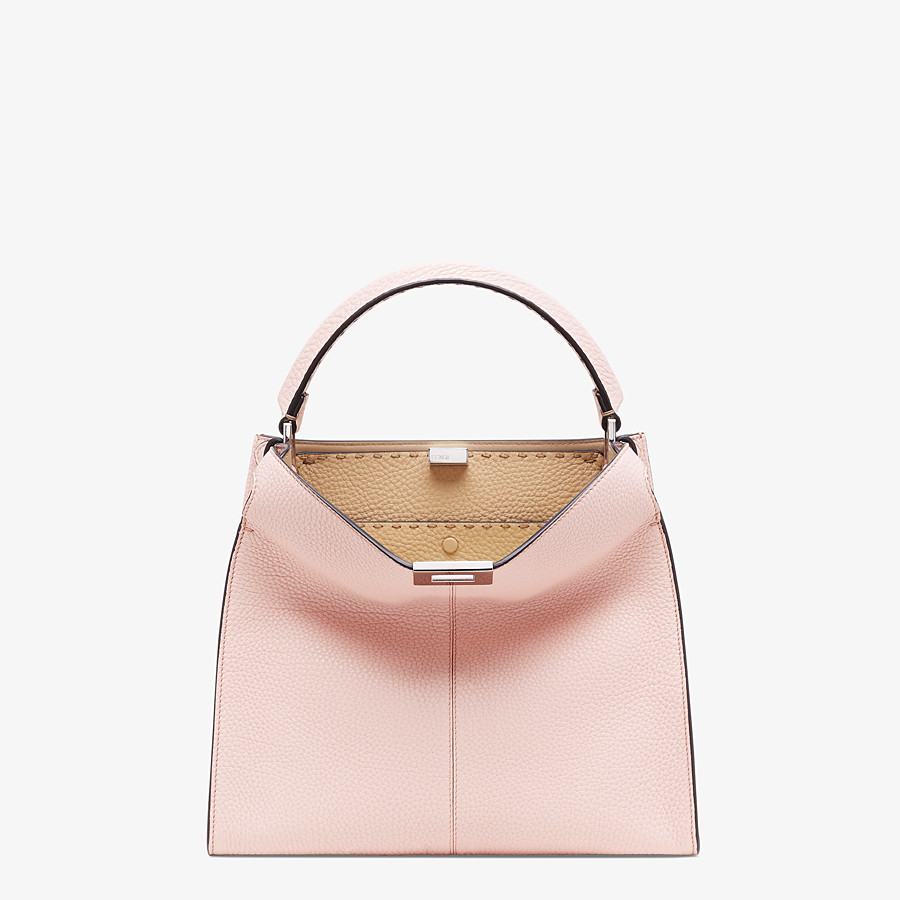 FENDI PEEKABOO X-LITE MEDIUM - Pink leather bag - view 2 detail