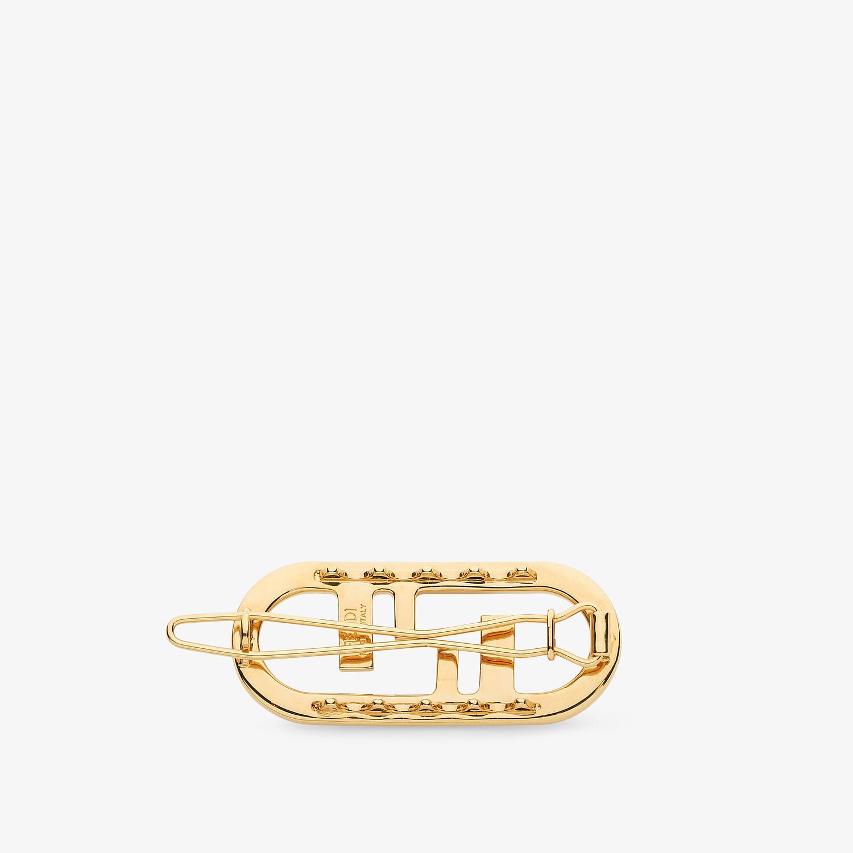 FENDI O'LOCK HAIR CLIP - Gold-colored hair clip - view 2 detail