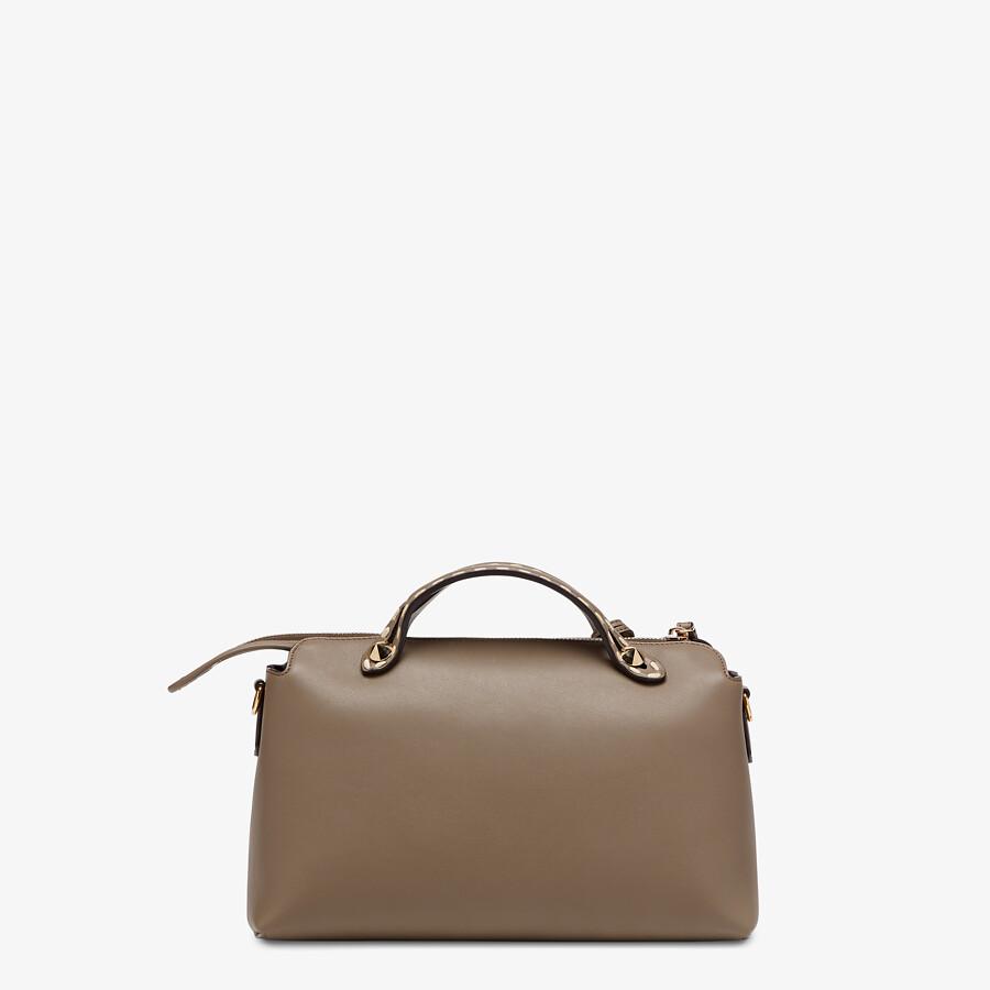 FENDI BY THE WAY MEDIUM - Grey leather and elaphe Boston bag - view 4 detail