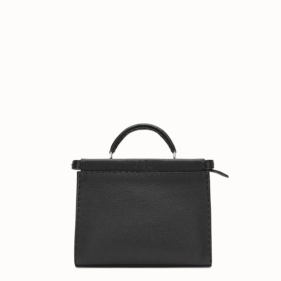 FENDI MINI PEEKABOO FIT - Sac en cuir noir - view 1 detail