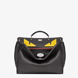 FENDI PEEKABOO ICONIC MEDIUM - Black leather backpack - view 1 thumbnail