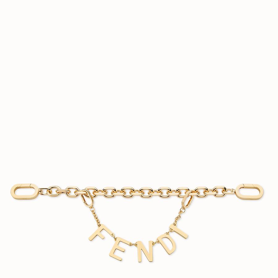 FENDI KEY CHARM - Portachiavi in metallo dorato - vista 1 dettaglio