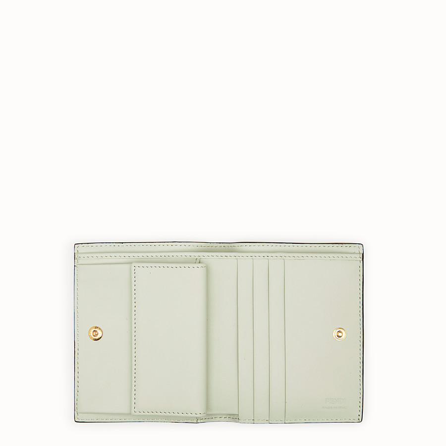 FENDI BIFOLD - Green leather compact wallet - view 4 detail