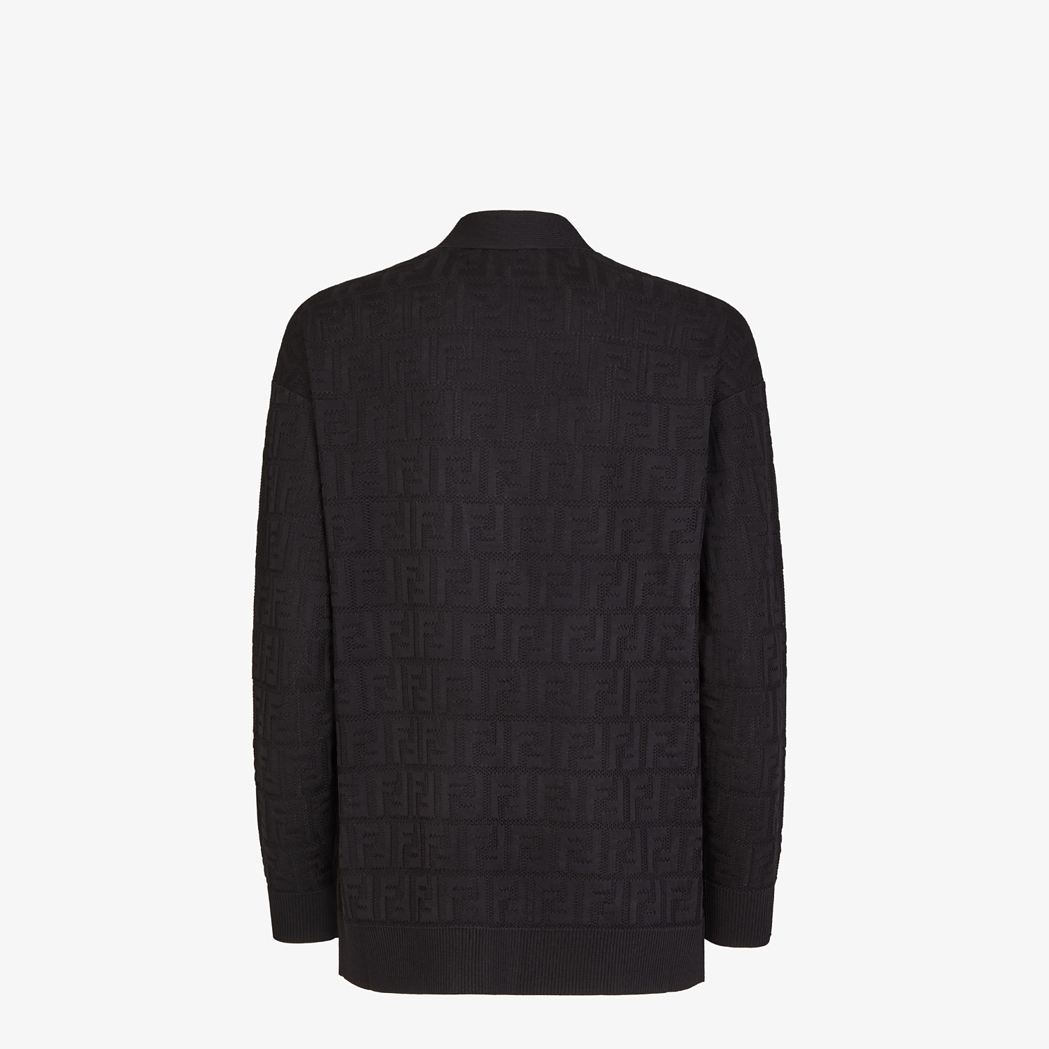 FENDI CARDIGAN - Black viscose and cotton cardigan - view 2 detail