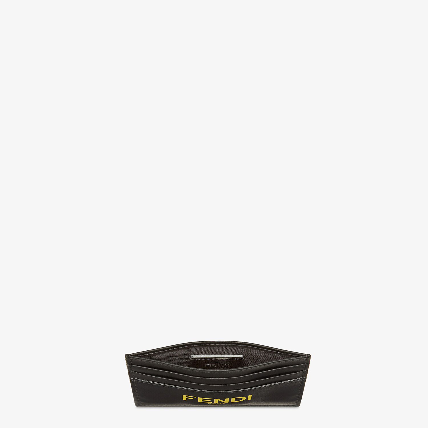 FENDI CARD HOLDER - Black leather card holder - view 3 detail