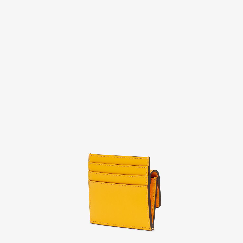 FENDI CARD HOLDER - Orange leather cardholder - view 2 detail