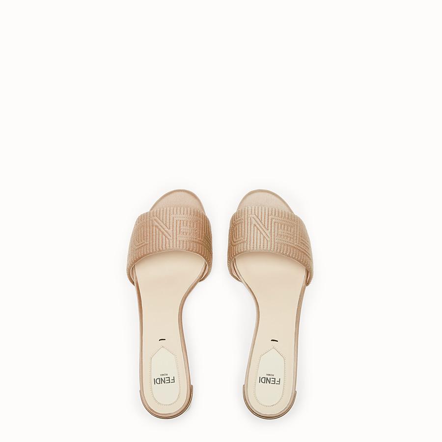 FENDI SABOTS - Beige satin sandals - view 4 detail