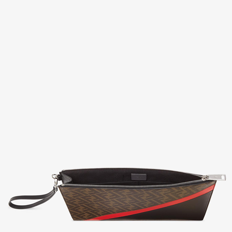 FENDI FLAT POUCH - Brown fabric bag - view 3 detail