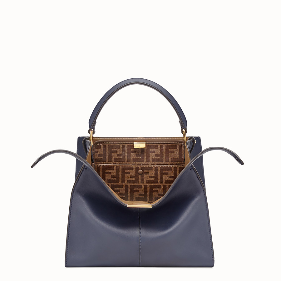 FENDI PEEKABOO X-LITE MEDIUM - Blue leather bag - view 1 detail