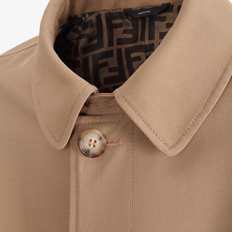FENDI TRENCH COAT - Beige wool trench coat - view 3 detail