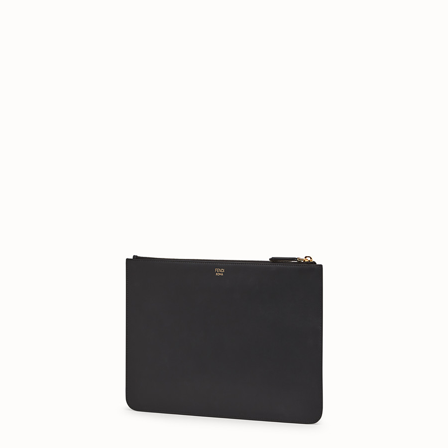 FENDI POUCH - Black leather pochette - view 2 detail