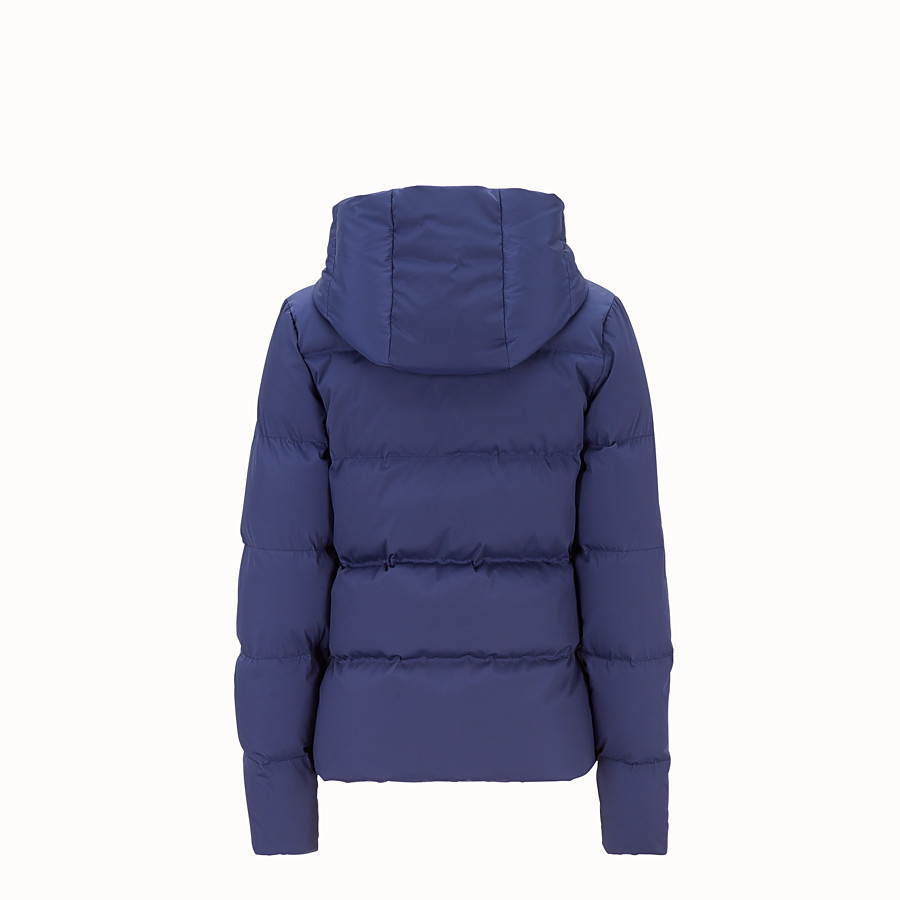 FENDI DOWN JACKET - Blue tech fabric down jacket - view 2 detail