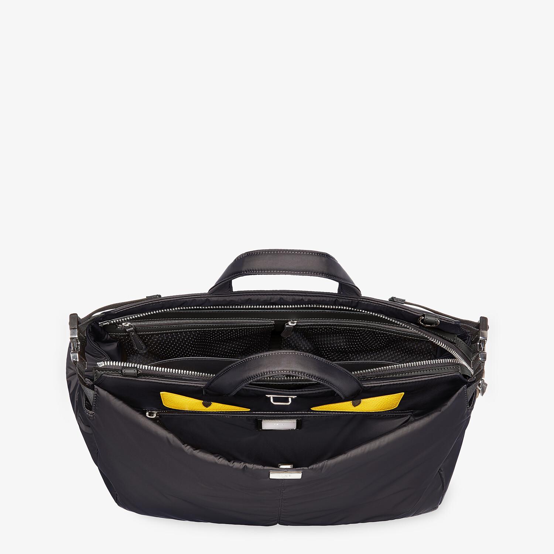 FENDI PEEKABOO ICONIC MEDIUM - Black nylon bag - view 5 detail