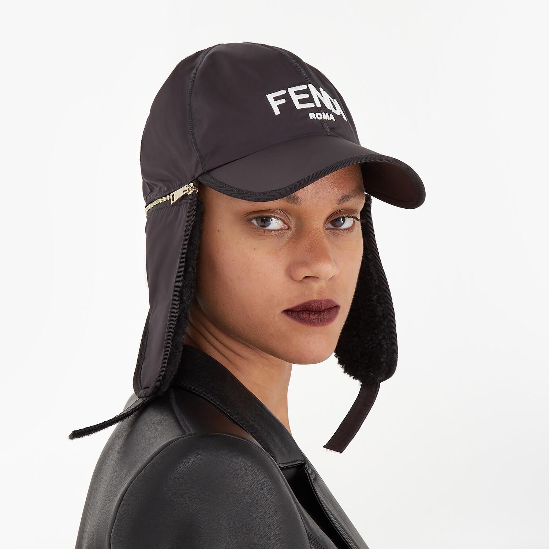 FENDI HAT - Black nylon baseball cap - view 4 detail