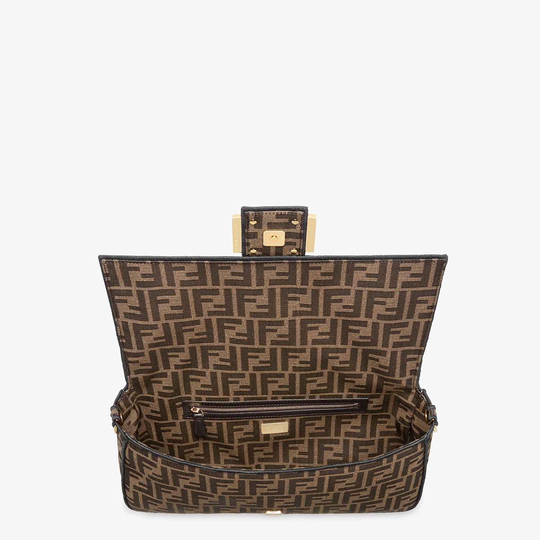 FENDI BAGUETTE LARGE - Brown fabric bag - view 4 detail