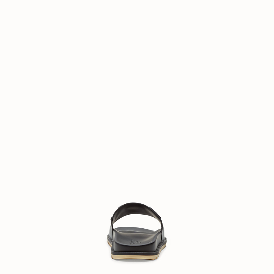 FENDI SLIDES - Black rubber slides - view 3 detail