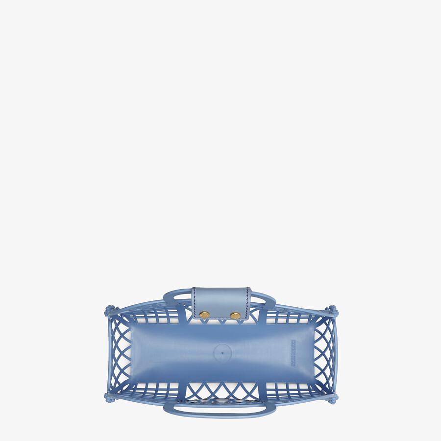 FENDI FENDI BASKET SMALL - Light blue recycled plastic mini-bag - view 5 detail