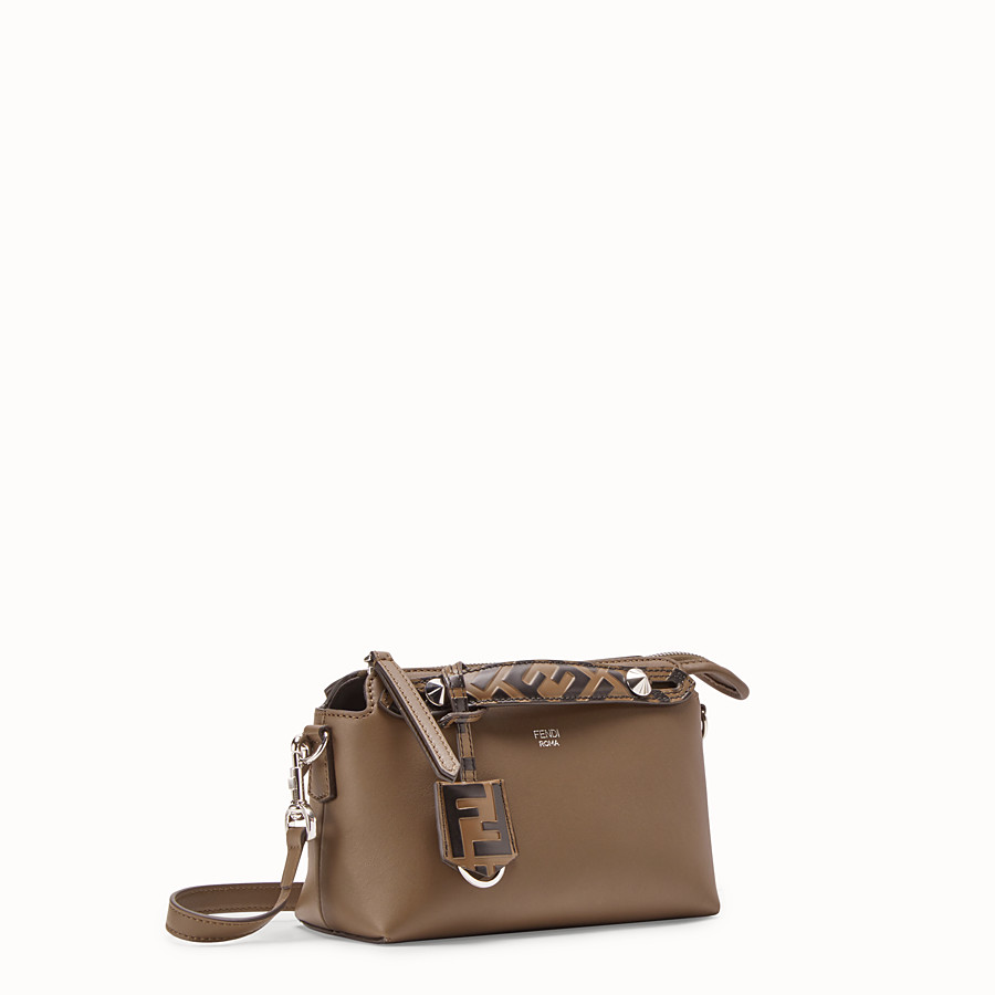 FENDI BY THE WAY MINI - Small brown leather Boston bag - view 2 detail