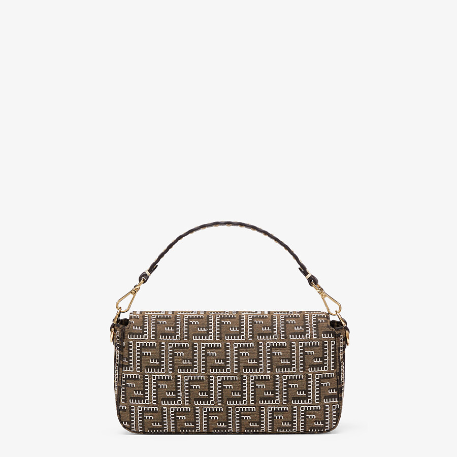 FENDI BAGUETTE - Embroidered FF fabric bag - view 3 detail