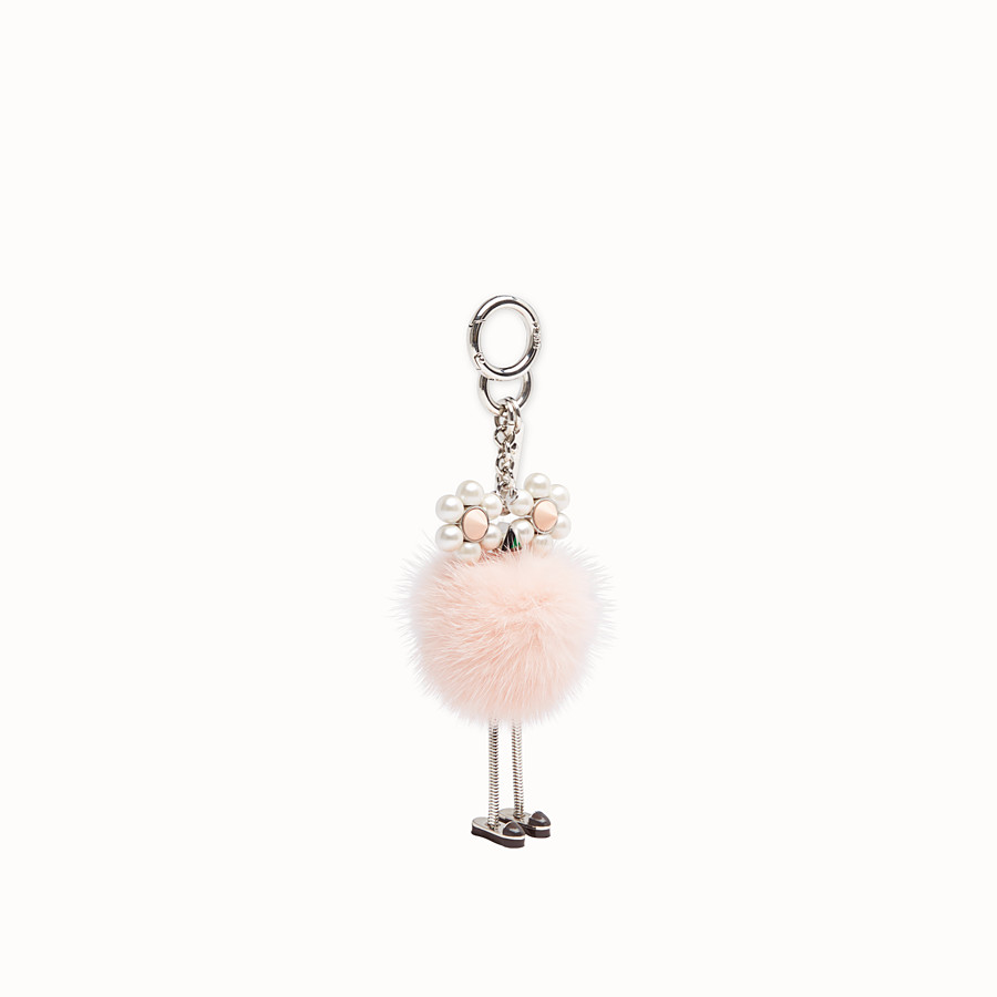 FENDI CHICK CHARM - Pink fur charm - view 1 detail