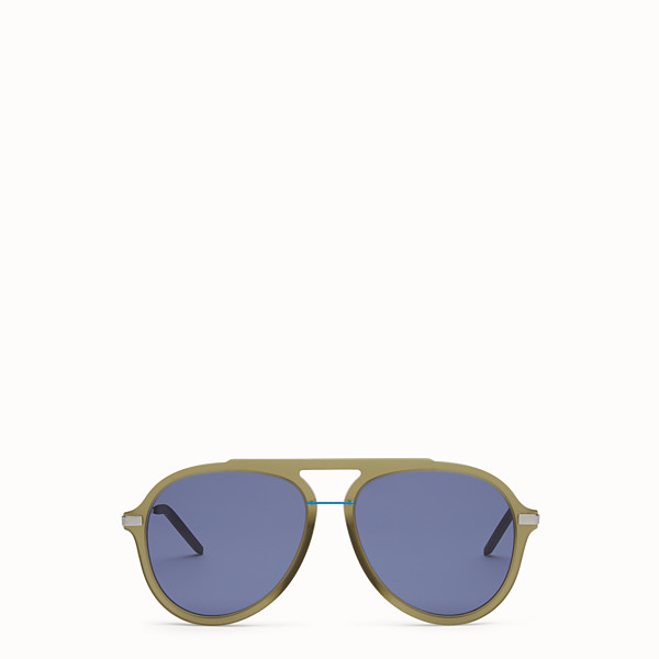 FENDI FENDI FANTASTIC - Green satin-finish sunglasses - view 1 small thumbnail
