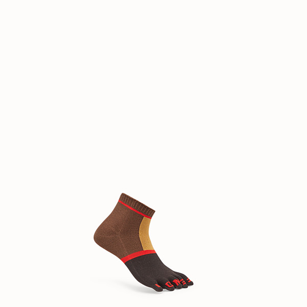 FENDI SOCKS - Multicolor nylon socks - view 1 small thumbnail