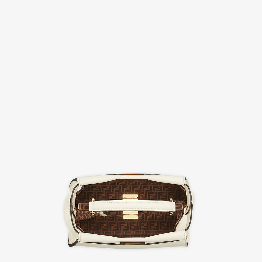 FENDI PEEKABOO ICONIC MINI - White leather bag - view 5 detail