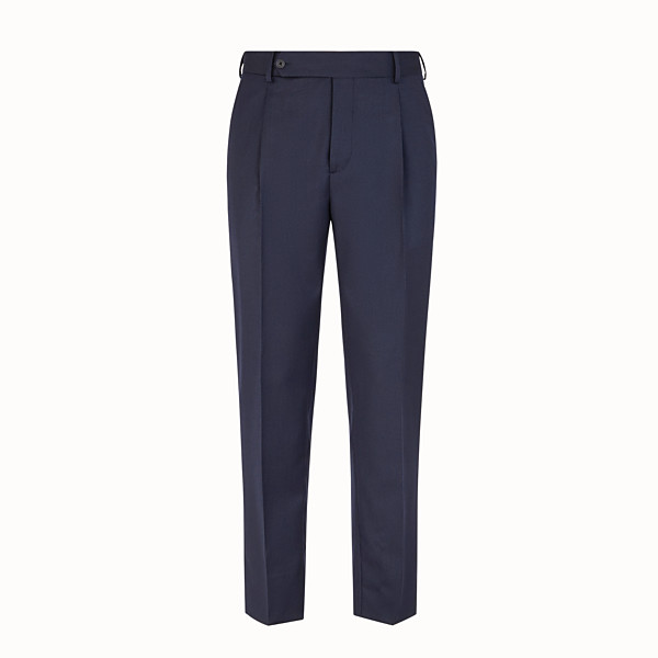 FENDI TROUSERS - Multicolour wool and silk trousers - view 1 small thumbnail