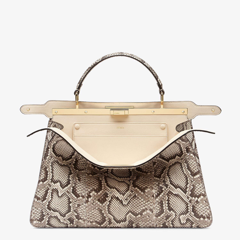 FENDI PEEKABOO ISEEU LARGE - Natural python leather bag - view 3 detail