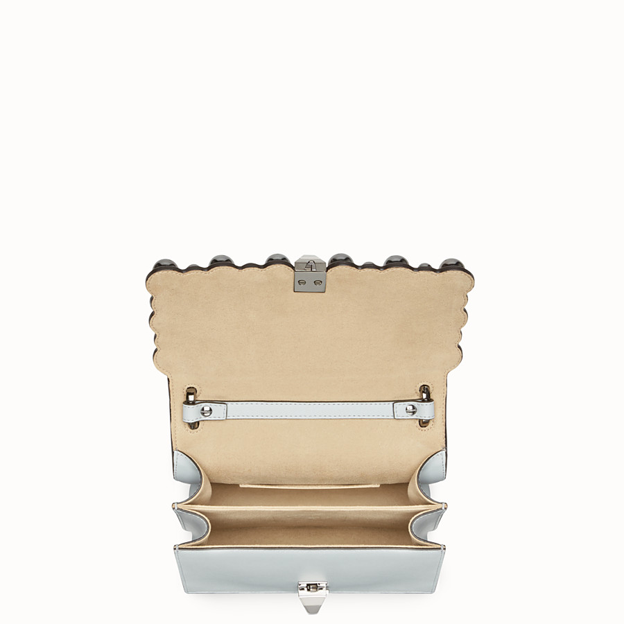 FENDI KAN I SMALL - Grey leather minibag - view 4 detail