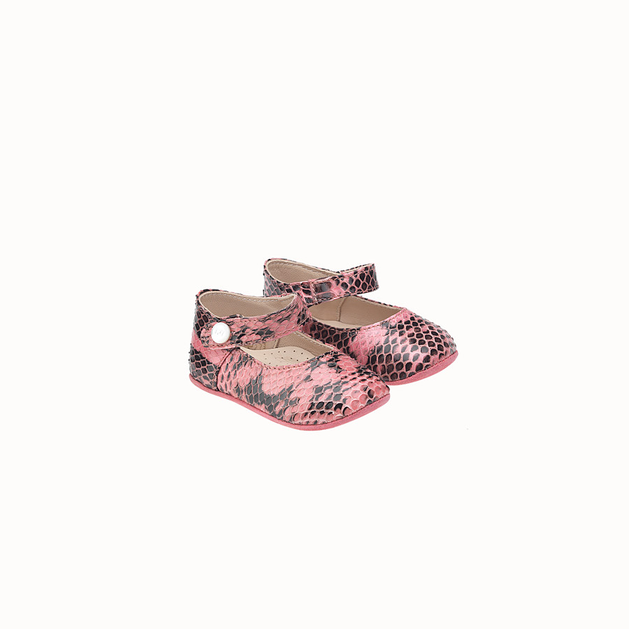 FENDI BALLERINA - in select pink and black leather - view 1 detail