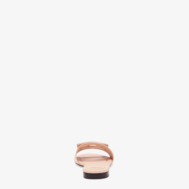 FENDI SIGNATURE - Pink leather slides - view 3 detail