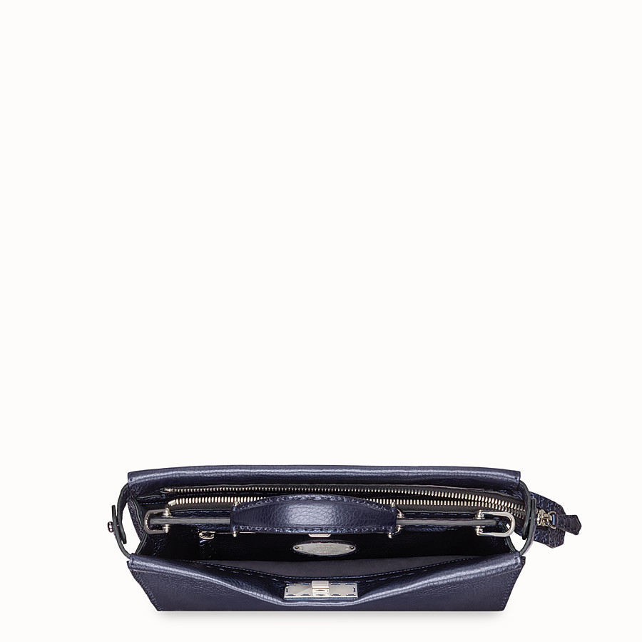 FENDI PEEKABOO ICONIC FIT - Blue leather bag - view 4 detail