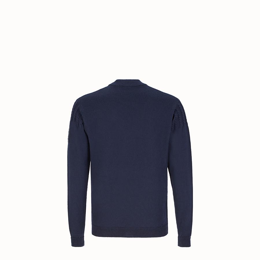 FENDI 毛衣 - 藍色羊毛毛衣 - view 2 detail