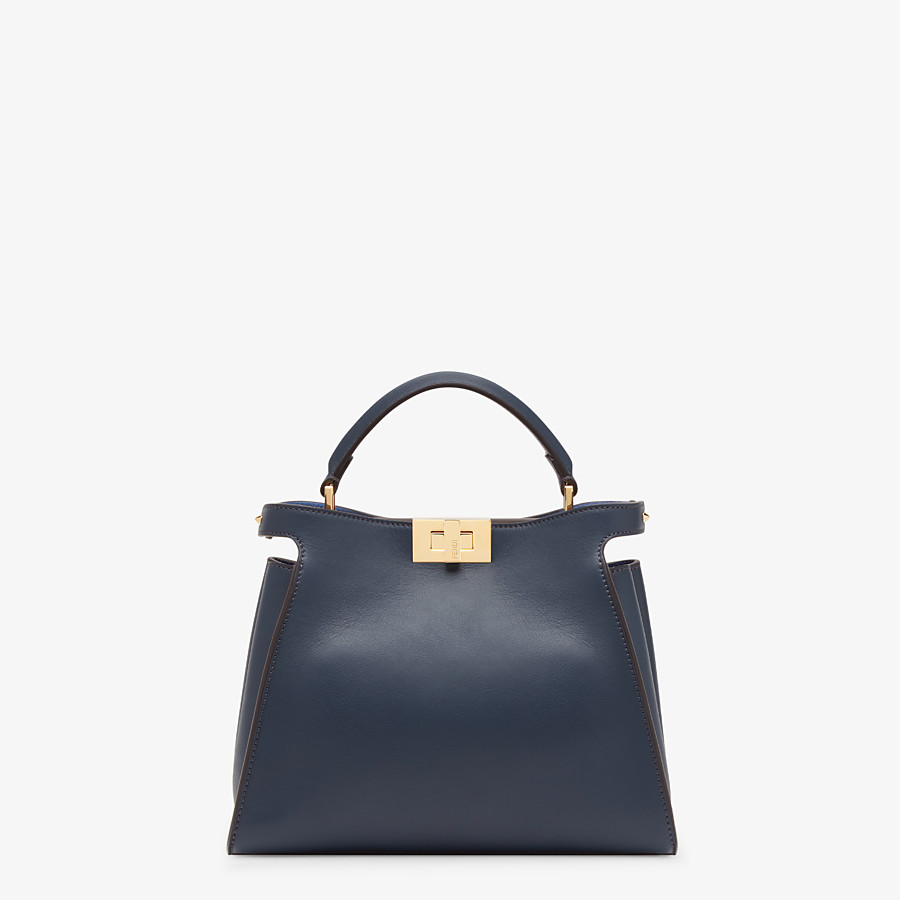 FENDI PEEKABOO ICONIC ESSENTIALLY - Blue leather bag - view 1 detail