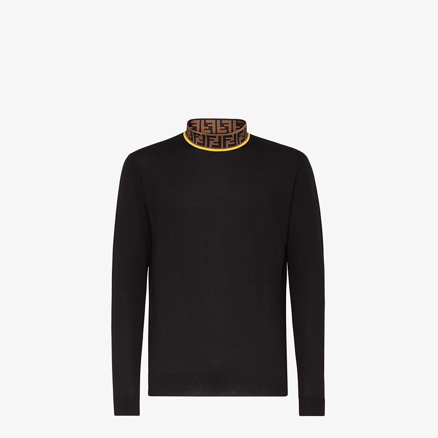 FENDI PULLOVER - Black wool jumper - view 1 detail