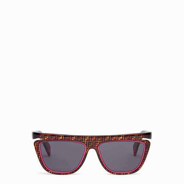 FENDI FFLUO - Havana FF sunglasses - view 1 small thumbnail
