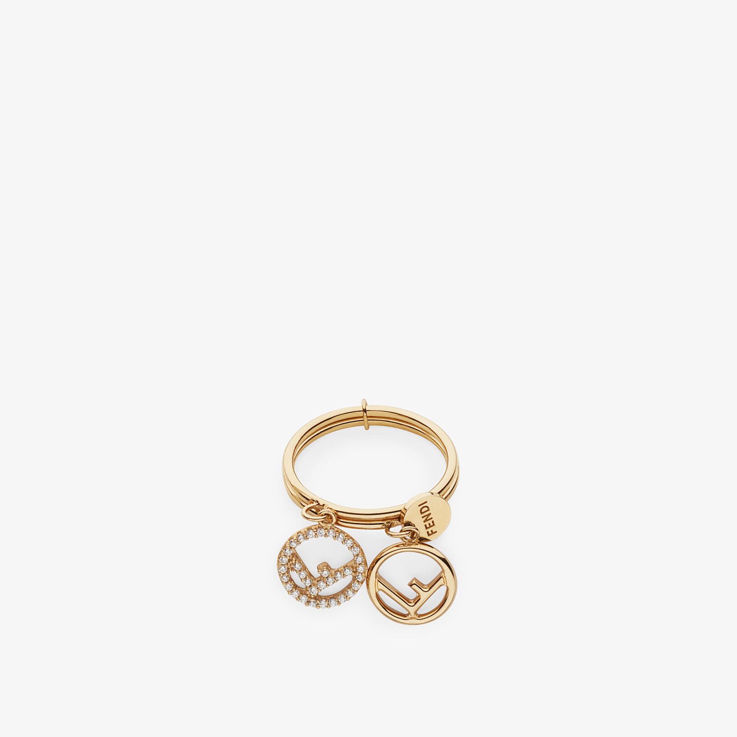 FENDI F IS FENDI RING - Gold colour ring - view 2 detail